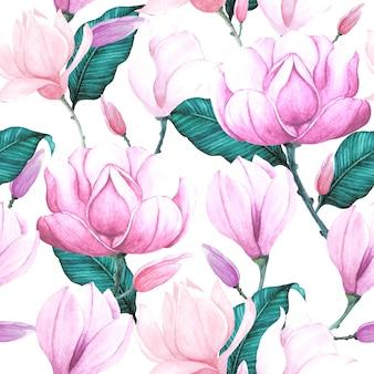 Kwiatowy wzór akwarela bez szwu