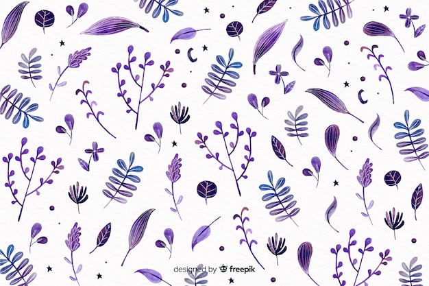 Kwiatowy wzór akwarela monochromatyczne