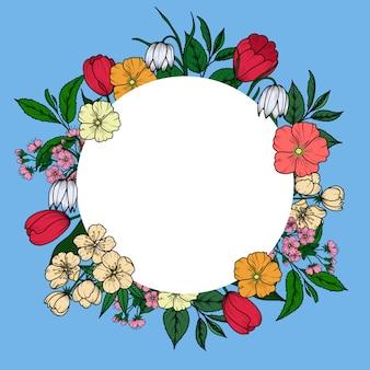 Kwiatowy wzór banner