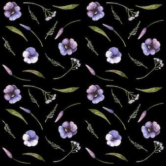 Kwiatowy wzór bez szwu