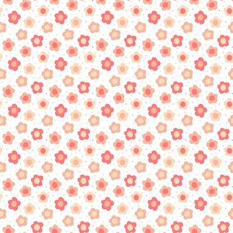 Kwiatowy wzór. bezszwowa wektorowa tekstura z kwiatami dla moda druków lub ściennego papieru.