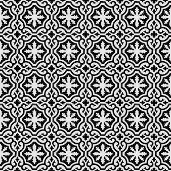 Kwiatowy wzór bezszwowe mandali ornament geometryczne tapety