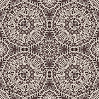 Kwiatowy wzór bezszwowe tło w stylu arabskim