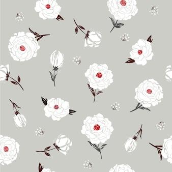 Kwiatowy wzór botaniczny