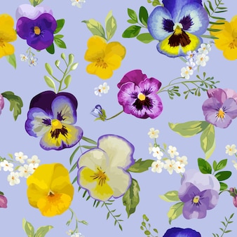 Kwiatowy wzór bratek kwiaty