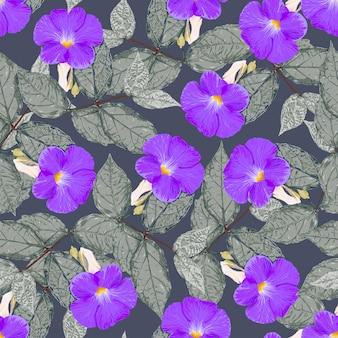Kwiatowy wzór fioletowe kwiaty tło.