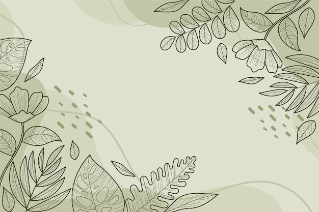 Kwiatowy wzór liniowy w tle