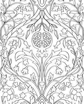 Kwiatowy wzór na tapetę.