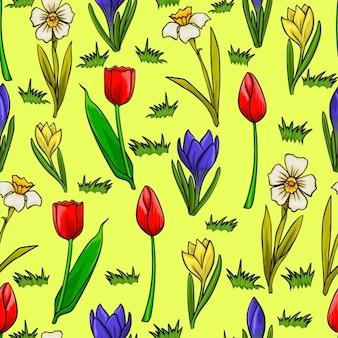 Kwiatowy wzór pola