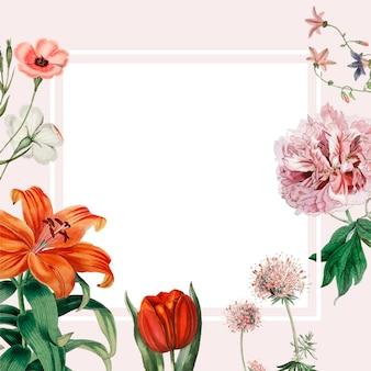 Kwiatowy wzór ramki