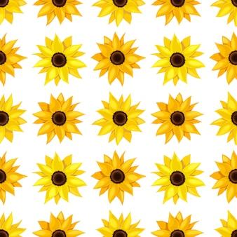 Kwiatowy wzór słoneczników.
