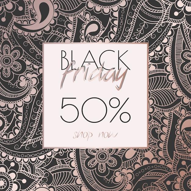 Kwiatowy wzór szablonu na sprzedaż w czarny piątek