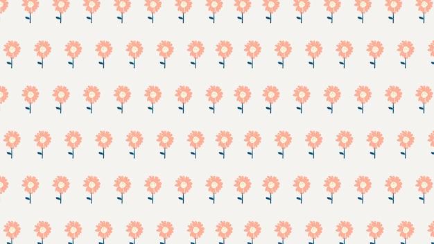 Kwiatowy wzór tapety na pulpit wektor, słodkie tło hd