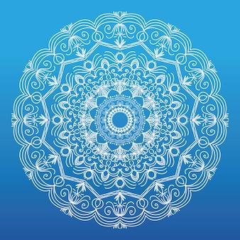 Kwiatowy wzór tła mandala darmowych wektorów