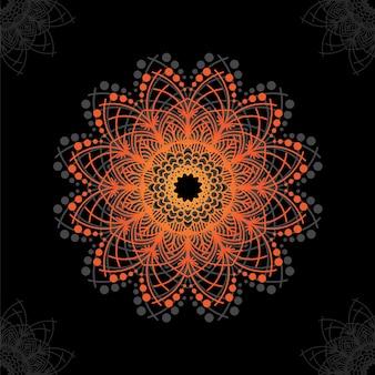 Kwiatowy Wzór Tła Mandala Darmowych Wektorów Premium Wektorów