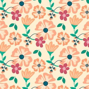 Kwiatowy wzór w odcieniach brzoskwini