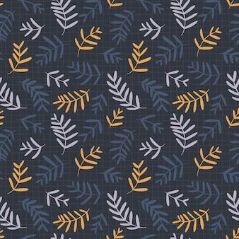 Kwiatowy wzór w pastelowych kolorach na tle ciemnej siatki. ręcznie rysowane prosty doodle ilustracja. idealny do tekstyliów, tapet, opakowań itp