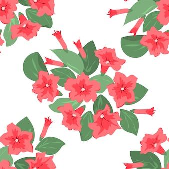 Kwiatowy wzór w różowe kwiaty