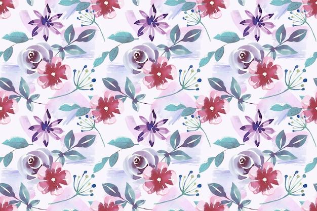 Kwiatowy wzór w stylu przypominającym akwarele