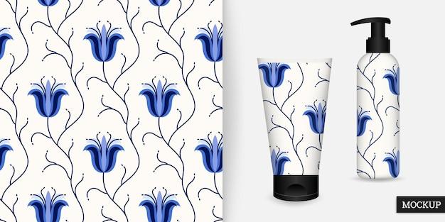 Kwiatowy wzór w stylu wyciągnąć rękę