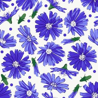 Kwiatowy wzór z cykorii.