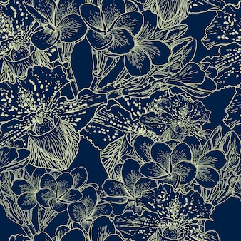Kwiatowy wzór z egzotycznych kwiatów