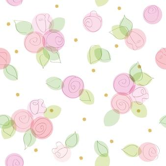 Kwiatowy wzór z kropek polka brokat.