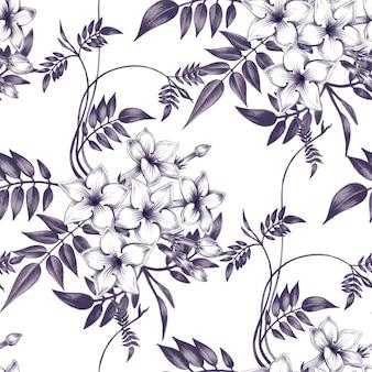 Kwiatowy wzór z kwiatami jaśminu.