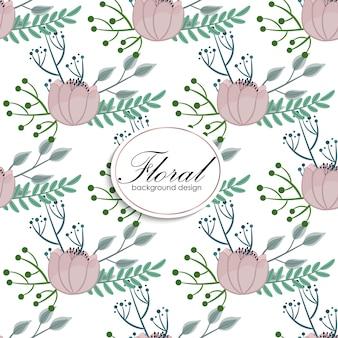 Kwiatowy wzór z magnolii w stylu przypominającym akwarele