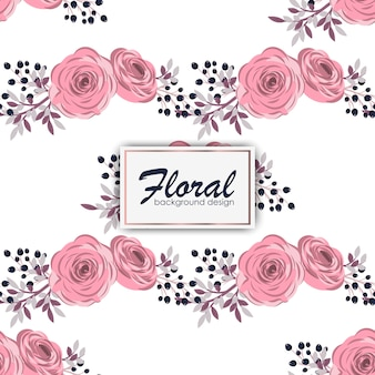 Kwiatowy wzór z róż w stylu przypominającym akwarele