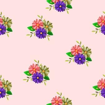 Kwiatowy wzór z róż