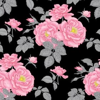 Kwiatowy wzór z różami.