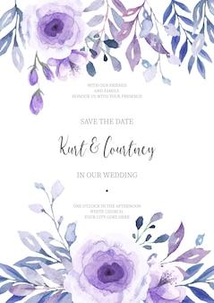 Kwiatowy zaproszenie na ślub gotowy do druku