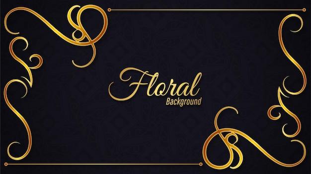 Kwiatowy złoty sztandar