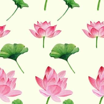 Kwiaty akwarela bezszwowe wzór