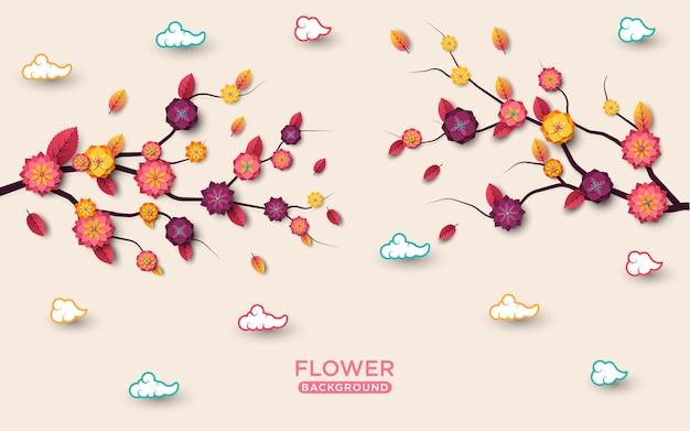 Kwiaty cięte tło