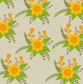 Kwiaty i kwiatowy wzór.