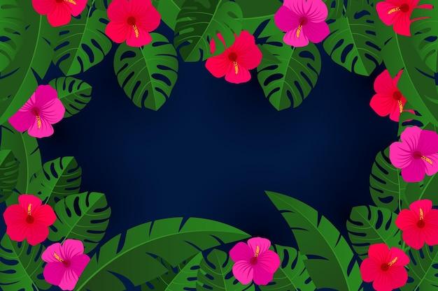 Kwiaty i liście tło do komunikacji wideo