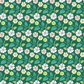 Kwiaty kwiatowy bezszwowe pttern