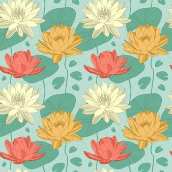 Kwiaty lotosu w wzór