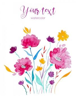 Kwiaty malowane akwarelą