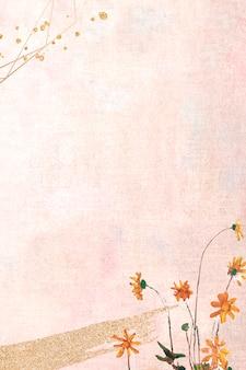 Kwiaty na pastelowym płótnie