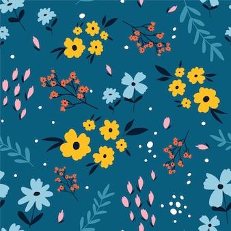 Kwiaty nadruk bez szwu projekt ilustracji wektorowych dla modnych tkanin grafika tekstylna pri