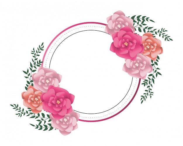Kwiaty okrągłe ramki