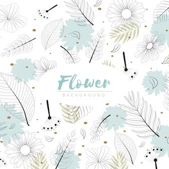 Kwiaty tło w stylu wyciągnąć rękę