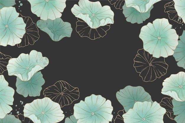 Kwiaty w akwarela tło