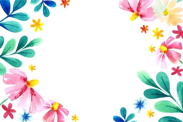 Kwiaty w akwarela w pastelowych kolorach