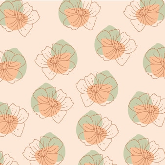Kwiaty w tle z kwiatami i organicznymi kształtami.