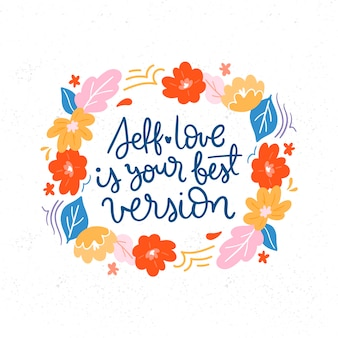 Kwiaty z napisem love love