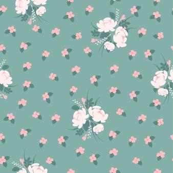 Kwieciste abstrakcjonistyczne bezszwowe deseniowe whit róże